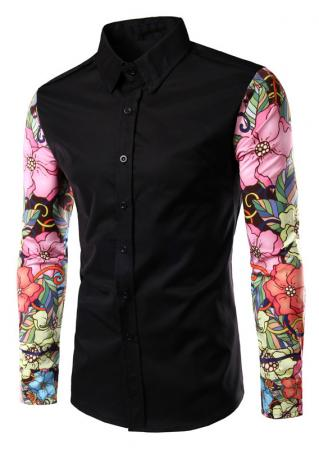 Floral Splicing Shirt
