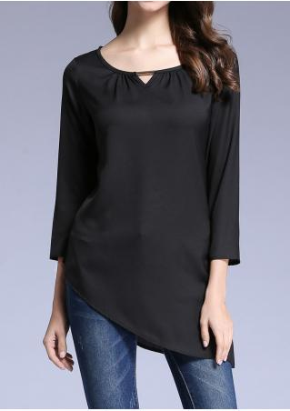 Solid Asymmetric Blouse