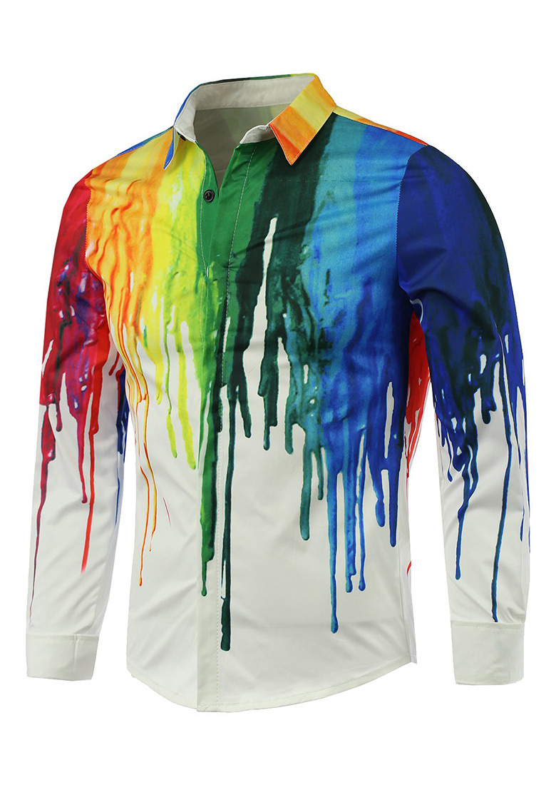 Mens Long Sleeve White T Shirt