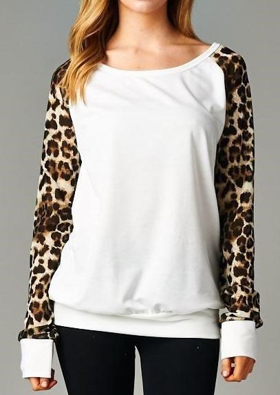 Bluză de damă, casual, din poliester, cu mâneci lungi și imprimeu
