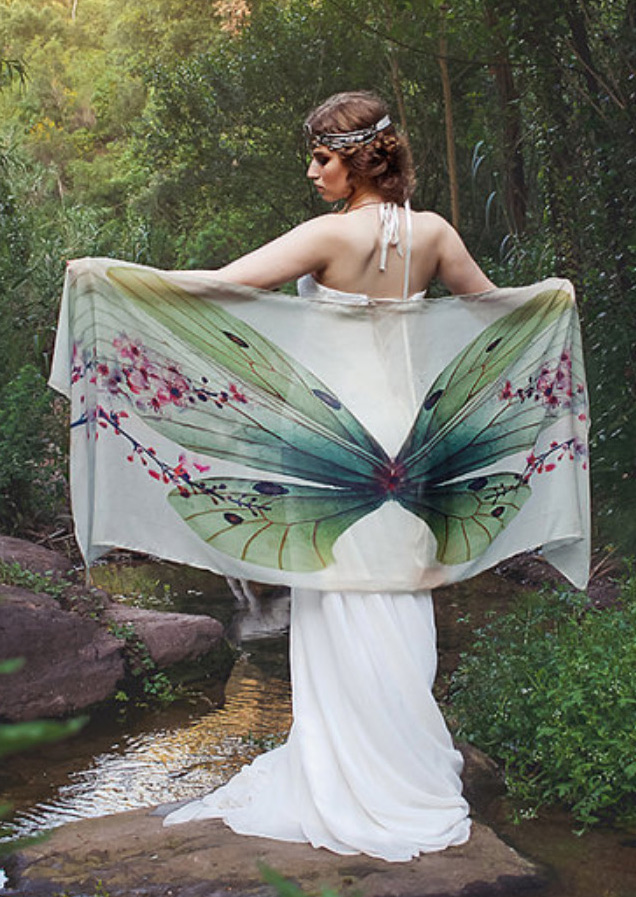Image of Butterfly Printed Scarf