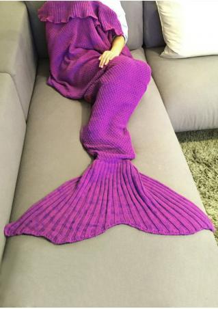Crochet Layered Mermaid Tail Design Blanket