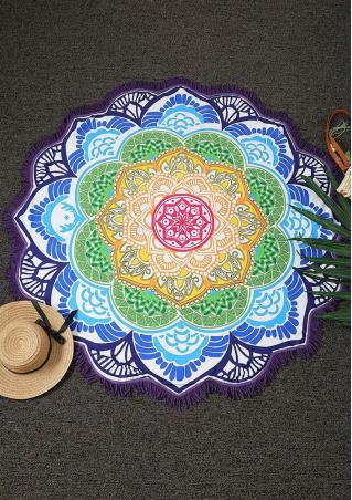 Mandala Lotus Flower Shape Picnic Blanket