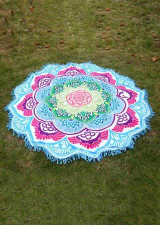 Mandala Lotus Flower Picnic Blanket