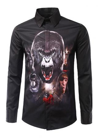 Gorilla Printed Button Shirt