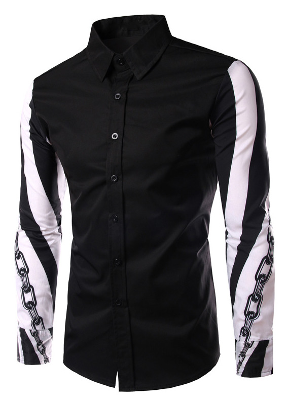 Image of Chain Printed Long Sleeve Shirt