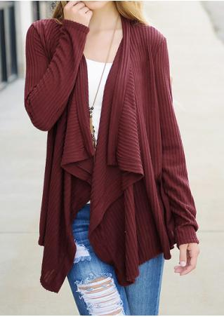 Long Sleeve Loose Cardigan Without Necklace