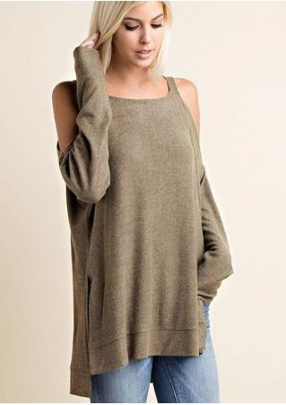 Solid Asymmetric Off Shoulder Loose Blouse Solid
