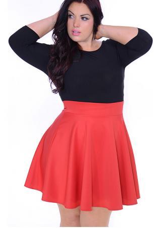 Color Block Plus Size Mini Dress Color