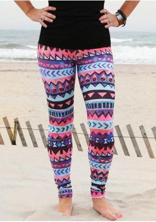 Geometric Skinny Stretchy Leggings