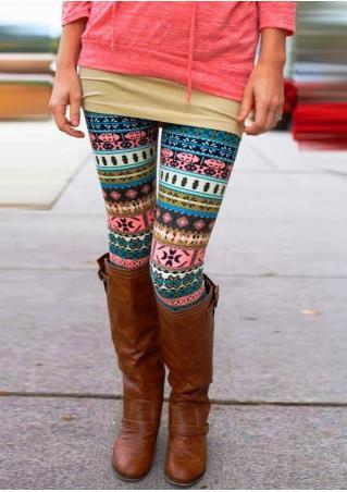 Geometric Printed Skinny Leggings