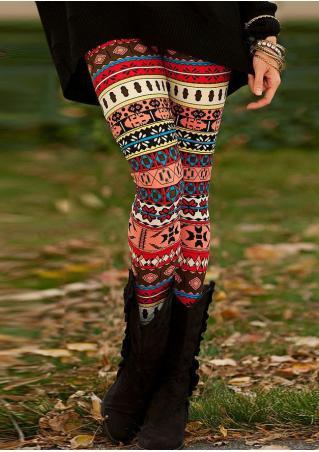 Geometric Printed Stretchy Leggings