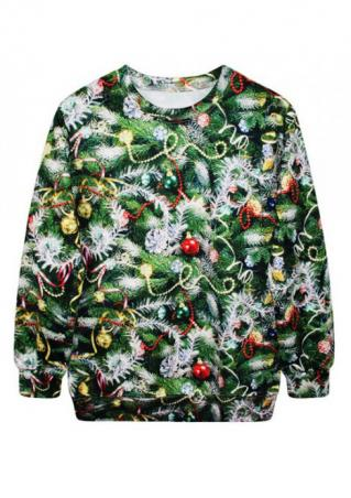 Christmas Tree Printed Sweatshirt