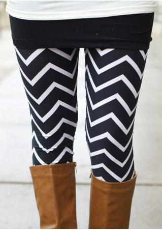 Zigzag Printed Skinny Leggings