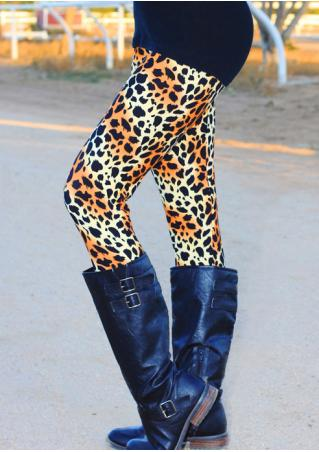 Leopard Printed Stretchy Leggings