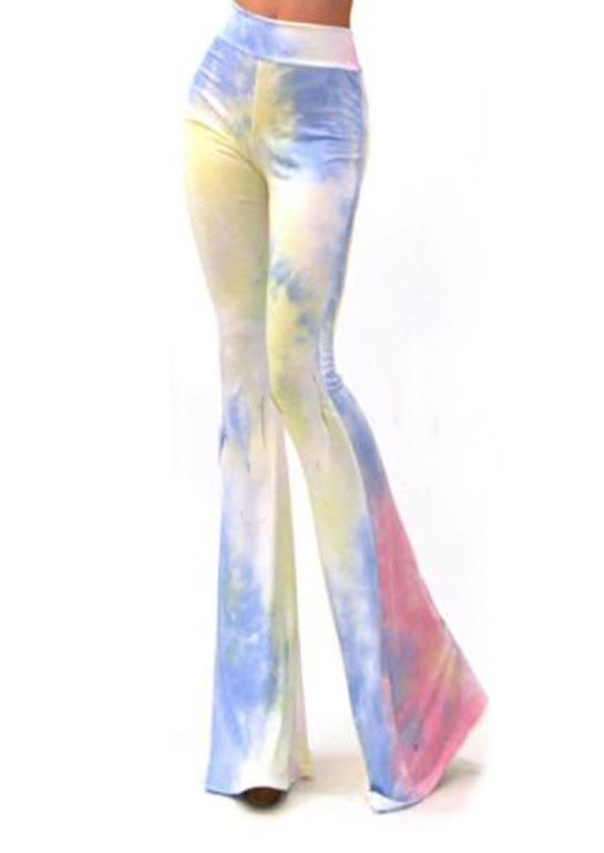 Tie Dye Skinny Flare Pants Fairyseason