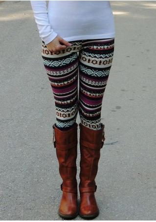 Printed Skinny Slim Stretchy Leggings