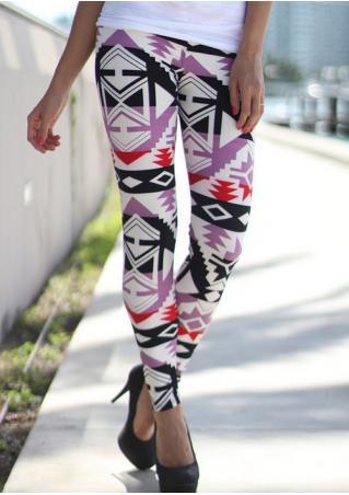 Printed Stretchy Slim Leggings