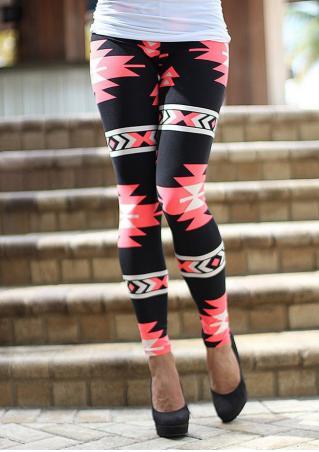 Printed Stretchy Slim Long Leggings