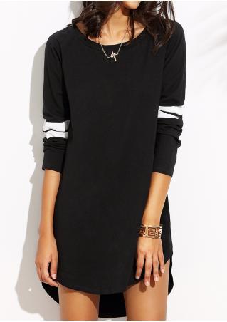Color Block Mini Dress Without Necklace Color