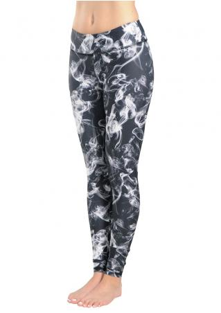 Abstract Smog Printed Stretchy Leggings