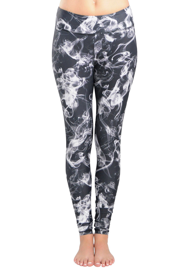 Image of Abstract Smog Printed Stretchy Leggings