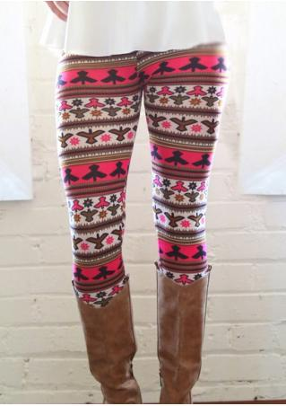Birds Printed Skinny Stretchy Leggings Birds