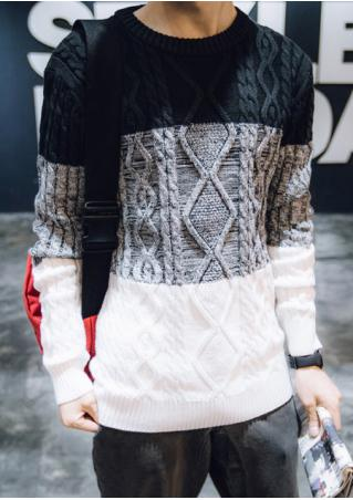 Color Block Casual Sweater