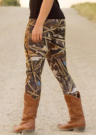 Image of Abstract Printed Stretchy Skinny Slim Leggings