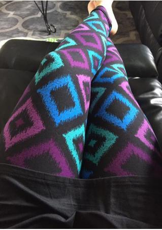 Geometric Printed Stretchy Skinny Casual Leggings