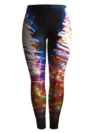 Muticolor Printed Stretchy Skinny Leggings