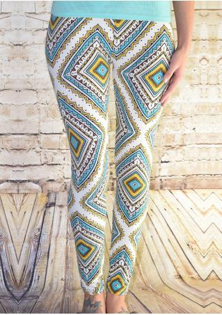 Geometric Printed Stretchy Leggings