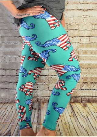 Elephant Printed Stretchy Skinny Leggings