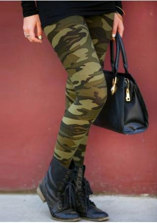 Camouflage Printed Stretchy Leggings