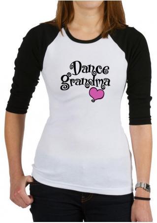 DANCE GRANDMA Heart Printed T-Shirt DANCE