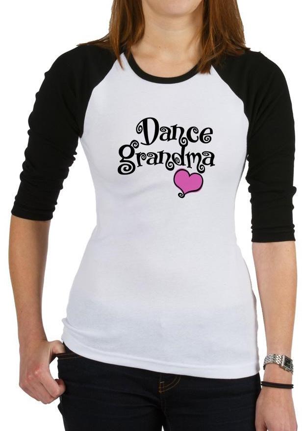Dance Grandma Heart Printed T Shirt Fairyseason