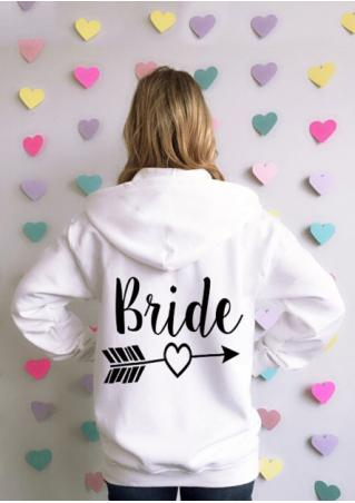 BRIDE Arrow Printed Kangaroo Pocket Hoodie