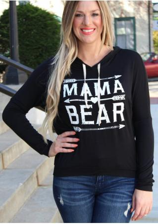 MAMA BEAR Arrow Printed Hoodie