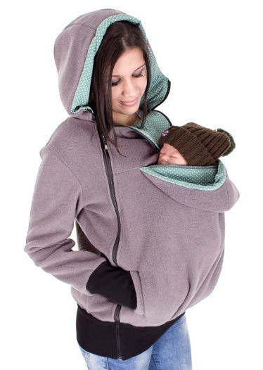 Solid Side Zipper Kangaroo Pocket Hoodie Fairyseason