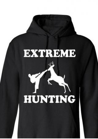 EXTREME HUNTING Printed Kangaroo Pocket Hoodie