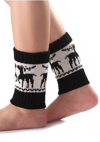 Christmas Reindeer Printed Casul Socks Christmas