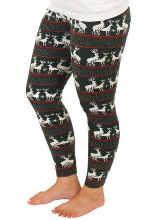Christmas Reindeer Printed Leggings