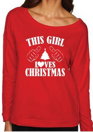 Christmas Letter Printed Sweatshirt