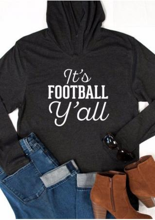FOOTBALL Printed Kangaroo Pocket Hoodie