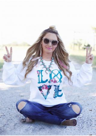 LOVE Printed Sweatshirt Without Necklace