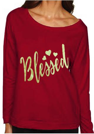 Blessed Printed Long Sleeve Sweatshirt