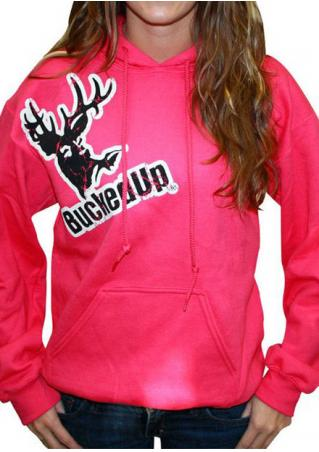 Christmas Reindeer Bucked Up Printed Hoodie