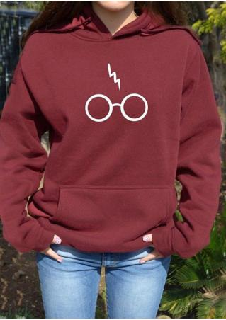 Harry Potter Glasses Letter Printed Hoodie