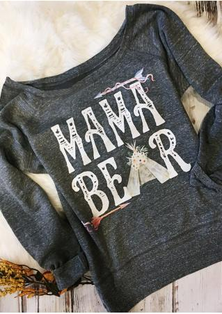 MAMA BEAR Arrow Printed Sweatshirt