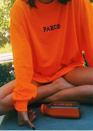 PABIO Printed Long Sleeve Sweatshirt
